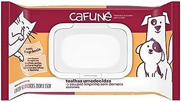 Toalhas Umedecidas Cafuné Sem Fragrância 50 unidades, Cafuné, Branco, Pequeno, pacote de 50