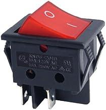 Interruptor a pesas bipolar luminoso rojo 16A 4Contactos 30x 22mm