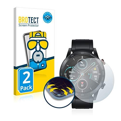 BROTECT Protector Pantalla Completa Mate Compatible con Honor Watch Magic 2 (46 mm) (2 Unidades) 3D Curvo Película Protectora