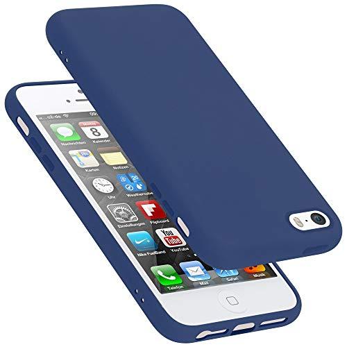 Cadorabo Custodia per Apple iPhone 5 in Liquid Blu - Morbida Cover Protettiva Sottile di Silicone TPU con Bordo Protezione - Ultra Slim Case Antiurto Gel Back Bumper Guscio