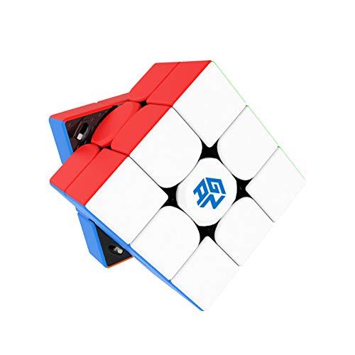 LEDM GAN 11 M Pro 3x3 Stickerless Cube Magic Puzzle Rompecabezas Juguetes para Adultos,Frosted stickerless Black