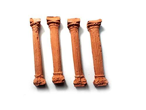 Generico ricevi 4 COLONNE Alte 65 MM in Terracotta per PASTORI PRESEPE San Gregorio ARMENO Artigianali sheperds Crib