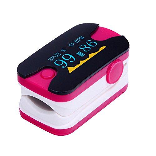 LED finger clip misuratore di ossigeno dito Pulse monitor frequenza cardiaca di monitoraggio saturazione di ossigeno Meter for home Health Care (multicolore opzionale), rose red