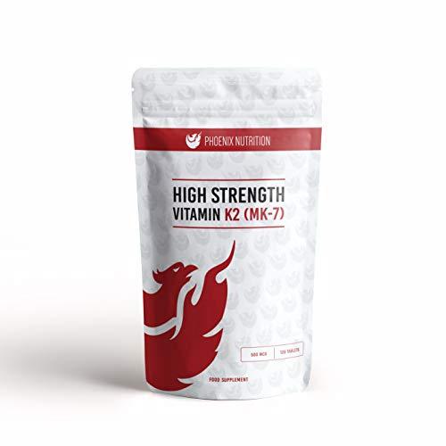 High Strength Vitamin K2 (MK-7) 500mcg x 360 Tablets - Phoenix Nutrition