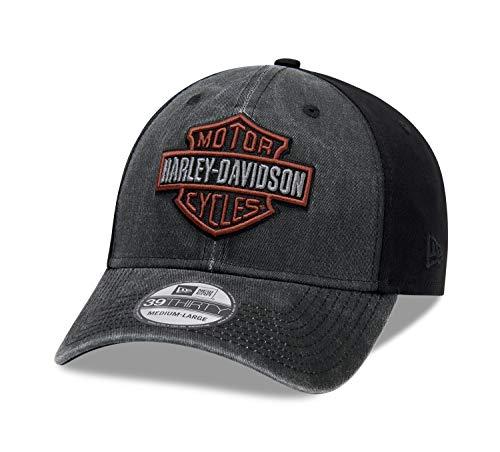 HARLEY-DAVIDSON Herren Baseballmütze Kappe Verwaschen Zweifarbiges Logo, L