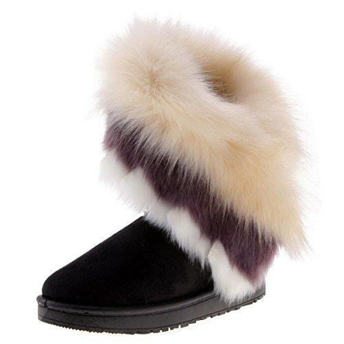 cooshional Scarpe Donna Invernali Stivali da Neve Classico A Gamba Mezza Impermabile