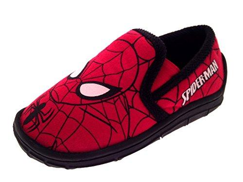 Hausschuhe für Kinder, Jungen, im Spiderman-Stil, Superhelden-Motiv, Schlupfschuhe, Kleinkindschuhe, Größe 18,5 bis 20,5, - Spiderman - Swinging City - Größe: 30 EU Kind