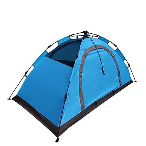 Wsaman Refugio Tienda Toldo Sombrilla Impermeable Campaña Abierta Rápida Pop-up, 1-2 Personas Rain Tarp Beach Tent para Playa Pesca Picnic,Azul