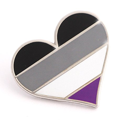 Asexual Pride Pin LGBTQIA Asexuality Heart Flag Lapel Pin for Ace Community