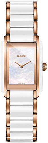 Rado Interal Quartz Mother of Pearl Dial Rose Gold PVD and White Ceramic Ladies Watch R20844902