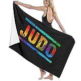 65469longshuo Colorful Judo Letter Bath/Pool/Beach Towel - Super Soft & Absorbent Bath...