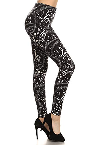 Music in Me Print Fashion Leggings