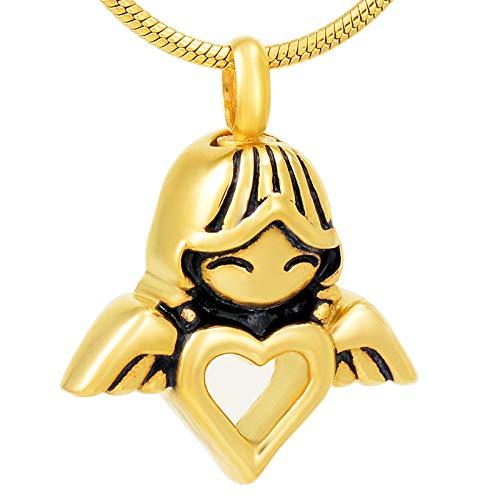 Codoyco_urns Asche Urne Anhänger Urne Halskette Memorial Asche Andenken Rosa Schwarz Gold Silber Mädchen Anhänger Medaillon Für Menschliche Asche Halskette Andenken Frauen Zubehör Schmuck C