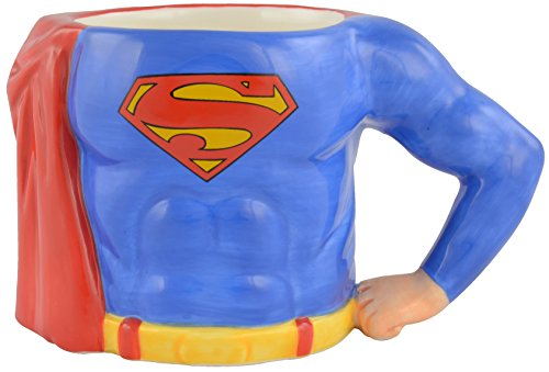 Superman Superman-3D Kaffee Tasse s Body, ca. 350ml-0122152 Taza, cerámica, Azul, 12.5 x 7.5 x 7.7 cm