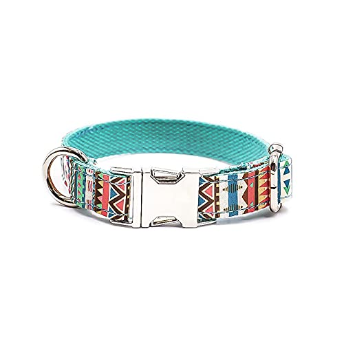 ZZCR Collar De Perro Mascota Collar De Seguridad con Hebilla Ajustable De Varios Tamaños Collar De Perro Suave Anti-Estrangulación Y Anti-Pérdida M