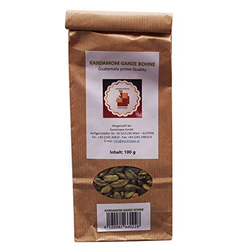 Vienna Kaffee Rösterei - Kardamomkapseln ganze Bohnen - Kardamom ganz - Guatemala prime quality (100g)