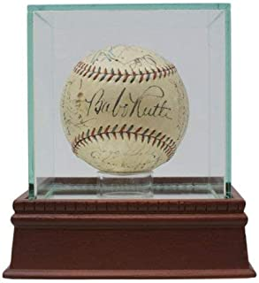 1933 Yankees Team Autographed Signed Oal Baseball with Babe Ruth Lou Gehrig +20 PSA/DNA JSA