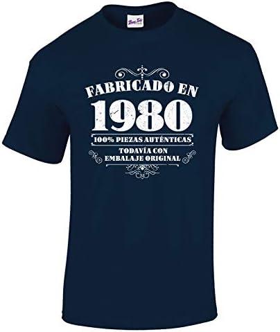 Bang Tidy Clothing Camiseta de Hombre para Regalo de 40 cumpleaños Manufactured 1980