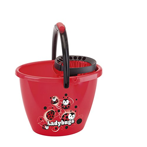 Juypal Premium Mop Bucket with Easy Wringer Ladybug/Oval,14 L