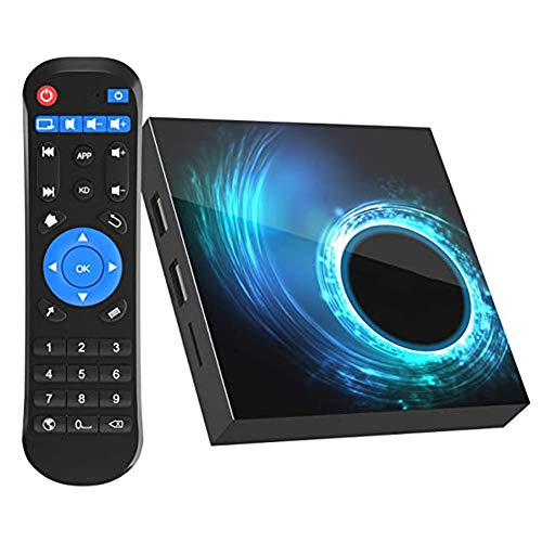 Android 10.0 TV Box, 4GB RAM 64 ROM Allwinner H616 Quad-Core 64bit with 2.4G/5G Dual WiFi, Support H.265/3D/6K Ultra HD/BT 5.0/HDMI 2.0 Smart TV Box