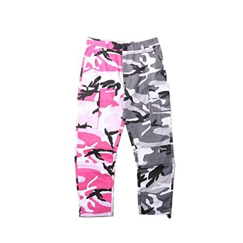 Mxssi Camouflage Men Women Cargo Pants Camo Hip Hop Pants Hombre Mujer Streetwear Joggers Sweatpants Casual Patchwork Toursers