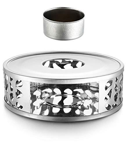 Cosumy Stövchen Teewärmer mit Teelichthalter - Edelstahl - Hält Warm - für Tee und Kaffekannen