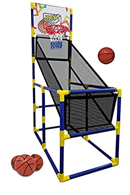 Kids Basketball Hoop / Arcade Game, With 4 Balls - Mini Indoor Toy Basketball shooting system, for Toddlers and Children + Fun for the whole Family - Kids Toys Sports Game for Boys and Girls ages 2-15