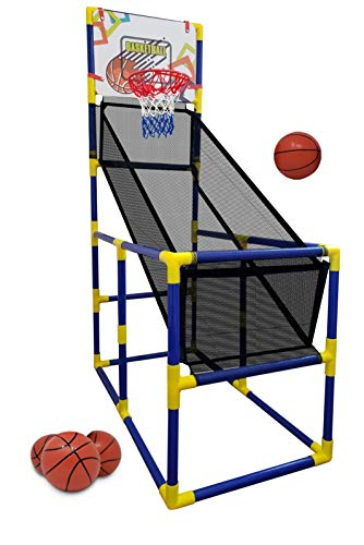 Kids Basketball Hoop   Arcade Game, With 4 Balls - Mini Indoor Toy Basketball shooting system, for Toddlers and Children + Fun for the whole Family - Kids Toys Sports Game for Boys and Girls ages 2-15