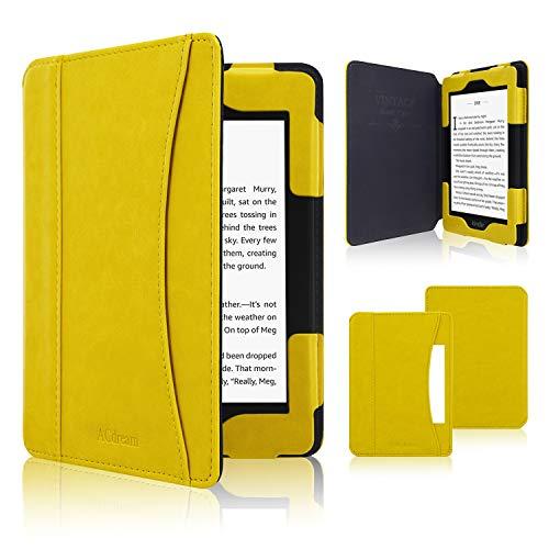 ACcolor Custodia in Pelle per Kindle Paperwhite 2018, Acdream Custodia in Pelle Folio Smart Cover con Funzione di risveglio Fit 2018Tutti i Nuovi e precedenti Kindle Paperwhite,