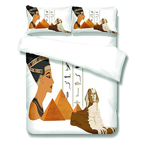 Juego De Funda Nórdica De Impresión Digital para Mujer Africana, Juego De 3 Piezas Adecuado para Hotel, Dormitorio, Ropa De Cama De Dormitorio 2 Fundas De Almohada 1 Funda Nórdica con Cremallera