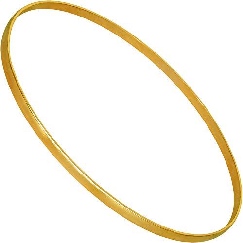 LIFETIME JEWELRY スムーズバングルブレスレット 24K純金メッキ 女性やティーンに ゴールド