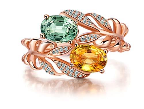 Ubestlove Rosegold Ring Zart Frauen Geschenk 20 Jahre Oval Ring 2Ct Geschenk Frau 40 54