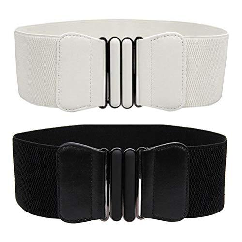 VOCHIC Wide Elastic Plus Size Dress Belt for Women Waist Belts Stretch Waistband
