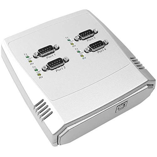 Cablematic - Adaptador USB a RS-232 VSCOM 4-Port (AM/4xDB9M) (USB-Powered)