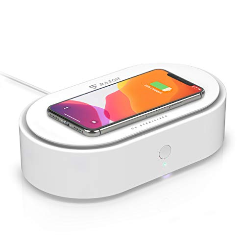 RAEGR Arc 1500 10W Qi Fast Wireless Charger for Qi-Enabled Phones - White RG10123
