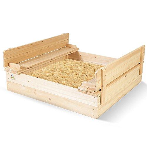 Keraiz STL-112-TOYS-Woodsandpit zandbak met houten deksel