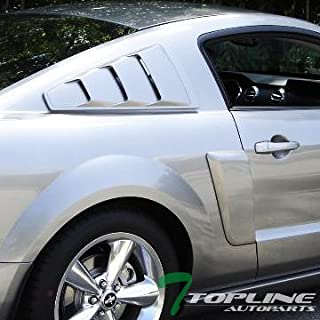 Topline Autopart Black Gt 3 Vent Style Rear 1/4 Quarter Side Window Louvers V2 For 05-14 Ford Mustang