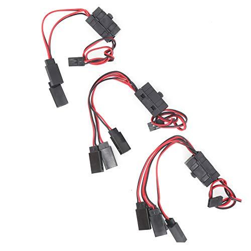 Yeelur Interruptores de Encendido y Apagado, Conectores de Interruptor de Encendido / Apagado RC Interruptor de Encendido RC de 4 vías para Coche de Control Remoto para Barco para helicóptero