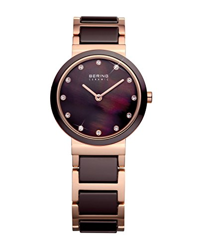BERING Time | Women's Slim Watch 10729-765 | 29MM Case | Ceramic Collection | Stainless Steel Strap with Ceramic Links | Scratch-Resistant Sapphire Crystal | Minimalistic - Designed in Denmark