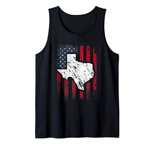 Vintage American US Flag Texas Austin Shirt Funny Gift Tees Tank Top