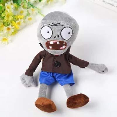 Yetta Zombie Toy Plant Warfare Doll, Bule Pants Zombie Plush Toy 12 inches
