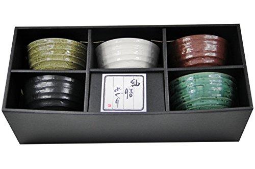 yoaxia ® - 5 Matcha Teeschalen- Set in 5 verschiedenen Designs MADE IN JAPAN von MINOYAKI