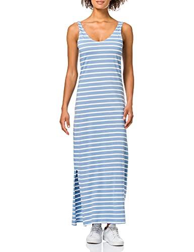 Only ONLMAY Life S/L V-Neck Dress JRS Vestido, Aluminio/Rayas: Cloud Dancer, M para Mujer