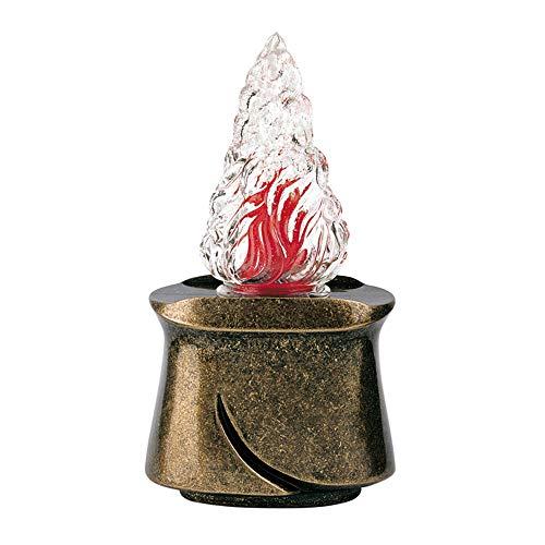 REAL VOTIVA FONDERIE D'ARTE Lámpara de Bronce - Acabado Glitter - Línea Idria (cm 19, Montaje en Pared) [P.04.1184/19]