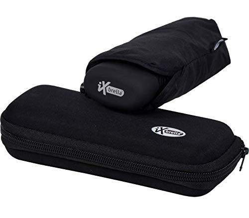 iX-brella mini - Schirm - Regenschirm im Etui - leicht und winzig - schwarz