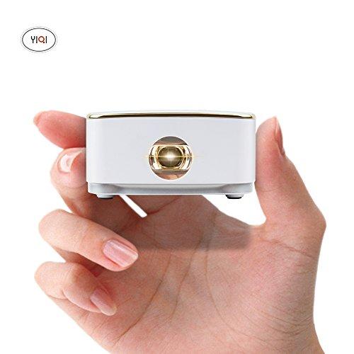 CPX-S8 + Smart Mini Proiettore DLP Android WiFi Home Theater portatile HD 1080P Uscita HDMI Batteria incorporata 1200 Lumens150 Inch-per Home Theater, Esterno, Party, Viaggi, Concerti, Business, Gioco