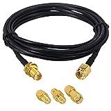 BOOBRIE Kit de Cable&Conector SMA a SMA Cable Coaxial RG174
