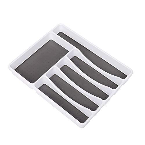 Noband JSFGFSDH - Bandeja clásica para cubiertos (6 compartimentos, con iconos para ayudar a ordenar cubiertos, Ute)