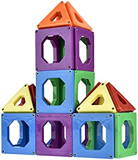 Discovery Toys CONNECTIX Magnetic Building Tiles   Kid-Powered Learning   STEM Toy   Set of 30 Magnetic Squares and Triang...