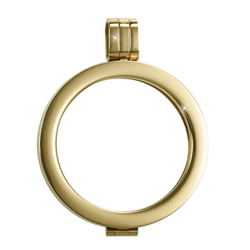 Sissi Jewelry Münzfassungen Edelstahlanhänger - Coinsfassung Anhänger Goldton WK-002